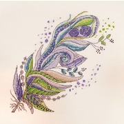 """Набор для вышивания крестом Марья искусница """"Зелено-фиолетовое"""""""