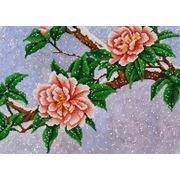 """Канва/ткань с нанесенным рисунком Конёк """"Цветы под снегом"""""""