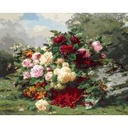 """Набор для раскрашивания Белоснежка """"Розы и ягодная корзинка"""""""