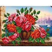 "Набор для вышивания бисером Вышиваем бисером ""Розы в вазе"""