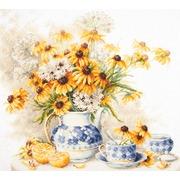 """Набор для вышивания крестом Чудесная игла """"Цветочный чай"""""""