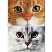 """Набор для вышивания крестом Thea Gouverneur """"Кошки Тигр и Котенок"""""""