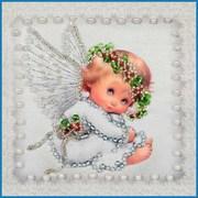 """Набор для вышивания хрустальными бусинами Образа в каменьях """"Ангелочек"""""""