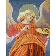 """Ткань с рисунком для вышивки бисером Конёк """"Ангел играющий на виоле"""""""