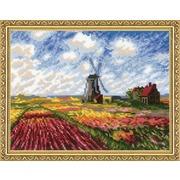 """Набор для вышивания крестом Риолис """"Поле с тюльпанами"""""""