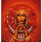 """Ткань с рисунком для вышивки бисером Конёк """"Африканка"""""""