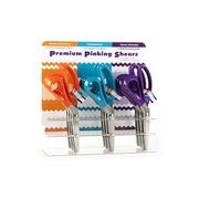 Аксессуары Hemline Набор ножниц зиг-заг с цветными ручками в пластиковом дисплее