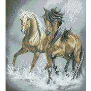 """Набор для выкладывания мозаики Паутинка """"Пара лошадей"""""""