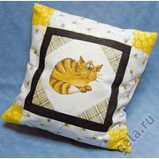 """Набор для вышивания крестом Марья искусница наволочка для подушки """"Уютный кот"""""""