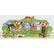 """Набор для вышивания крестом Bothy Threads """"Lazy Dogs"""" (Ленивые собаки)"""