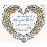 """Набор для вышивания крестом Bothy Threads """"Wedding Heart"""" (Свадебное сердце)"""