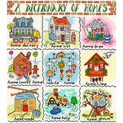 """Набор для вышивания крестом Bothy Threads """"Homes"""" (Домики)"""