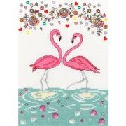 """Набор для вышивания крестом Bothy Threads """"Love Flamingo"""" (Любовь фламинго)"""