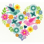 """Набор для вышивания крестом Bothy Threads """"Heart Bouquet"""" (Цветочное сердце)"""