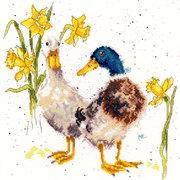 """Набор для вышивания крестом Bothy Threads """"Ducks And Daffs"""" (Весёлые утки)"""