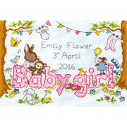 """Набор для вышивания крестом Bothy Threads """"Bunny Love – Girl"""" (Любимый кролик)"""