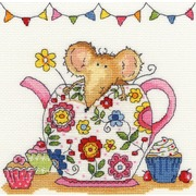 """Набор для вышивания крестом Bothy Threads """"Teapot Mouse"""" (Мышка в чайнике)"""