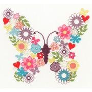 "Набор для вышивания крестом Bothy Threads ""Butterfly Bouquet"" (Цветочная бабочка)"