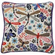 """Набор для вышивания крестом Bothy Threads подушка """"Dragonfly"""" (Стрекоза)"""