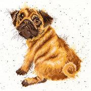 """Набор для вышивания крестом Bothy Threads """"Pug"""" (Мопс)"""