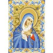 """Ткань с рисунком для вышивки бисером Конёк """"Богородица Умягчение Злых Сердец"""""""