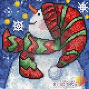 """Набор для выкладывания мозаики Алмазная живопись """"Новогодний снеговик"""""""