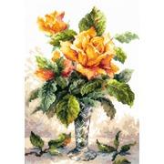 """Набор для вышивания крестом Чудесная игла """"Жёлтые розы"""""""