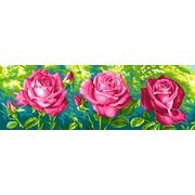 """Канва с нанесенным рисунком Grafitec """"Розы"""""""