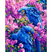 """Канва/ткань с нанесенным рисунком Grafitec """"Голубые попугаи"""""""