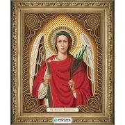 """Ткань с рисунком для вышивки бисером МОСФА """"Икона Ангел Хранитель"""""""