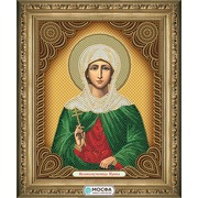 """Ткань с рисунком для вышивки бисером МОСФА """"Икона Великомученица Ирина"""""""