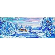 """Ткань с рисунком для вышивки бисером Конёк """"Зима искристая"""""""