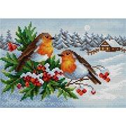 """Набор для выкладывания мозаики Вышиваем бисером """"Зимние птицы"""""""