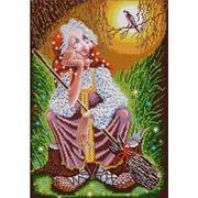 """Ткань с рисунком для вышивки бисером Конёк """"Бабушка Яга"""""""