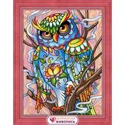 """Набор для выкладывания мозаики Алмазная живопись """"Красочный филин"""""""