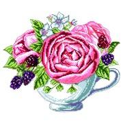 """Канва с нанесенным рисунком Матрёнин посад """"Ежевика в чашке"""""""