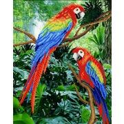 """Ткань с рисунком для вышивки бисером М.П. Студия """"Жители джунглей"""""""