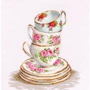 """Набор для вышивания крестом Luca-S """"Три чайные чашки"""""""