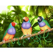 """Ткань с рисунком для вышивки бисером М.П. Студия """"Три попугая"""""""