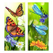 """Ткань с рисунком для вышивки бисером М.П. Студия """"Райские бабочки"""""""