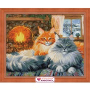 """Набор для выкладывания мозаики Алмазная живопись """"Кошачий уют"""""""