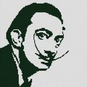 """Ткань с рисунком для вышивки бисером Конёк """"Сальвадор Дали"""""""