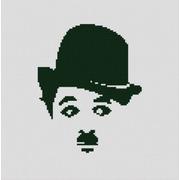 """Ткань с рисунком для вышивки бисером Конёк """"Чарли Чаплин"""""""