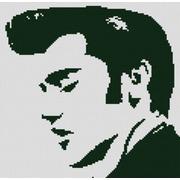 """Ткань с рисунком для вышивки бисером Конёк """"Элвис Пресли"""""""