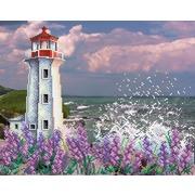"""Ткань с рисунком для вышивки бисером М.П. Студия """"Романтичный маяк"""""""