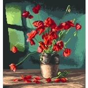 """Канва с нанесенным рисунком Матрёнин посад """"Маки"""""""