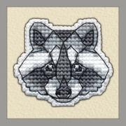 """Набор для вышивания крестом Овен """"Значок. Енот"""""""