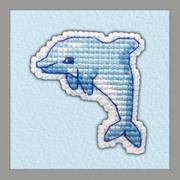 """Набор для вышивания крестом Овен """"Значок. Дельфин"""""""