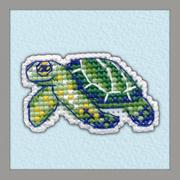 """Набор для вышивания крестом Овен """"Значок. Черепаха"""""""
