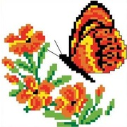 """Набор для вышивания крестом Каролинка """"Бабочка"""""""